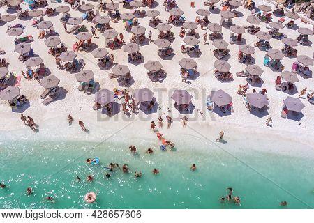 Marble Beach, Thassos Island, Greece.
