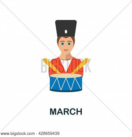 March Flat Icon. Color Simple Element From Activism Collection. Creative March Icon For Web Design,