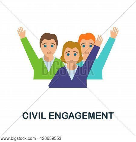 Civil Engagement Flat Icon. Color Simple Element From Activism Collection. Creative Civil Engagement