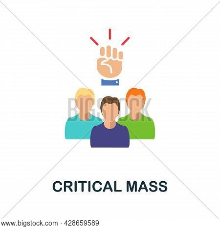 Critical Mass Flat Icon. Color Simple Element From Activism Collection. Creative Critical Mass Icon