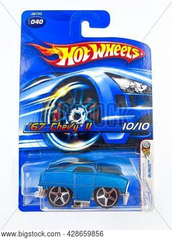 Bangkok Thailand - 08 Jul 2021: Pack Of Hot Wheels Die Cast Carded Car Model For Hot Wheels Series.