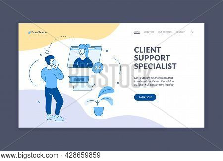 Customer Support Service. Professional Consultation Online And By Phone. Technical And Digital Assis