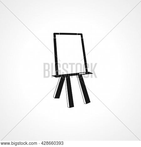 Easel. Canvas Icon. Canvas Simple Vector Icon. Canvas Isolated Icon.