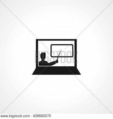 Online Learning. E-learning Icon. Online Learning Simple Vector Icon. Online Learning Isolated Icon.