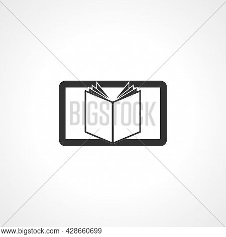 Ebook Icon. E Learning Simple Vector Icon. Ebook Isolated Icon.
