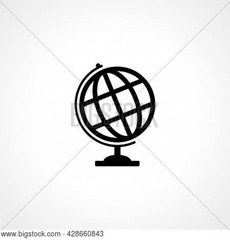 World Globe Icon. Globe Simple Vector Icon. Globe Isolated Icon.