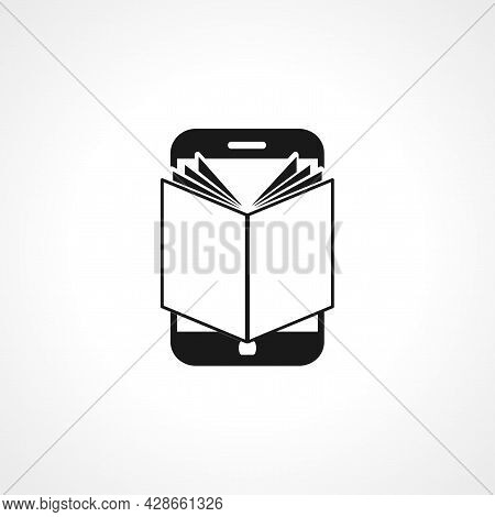 Mobile Learning Icon. Mobile Learning Simple Vector Icon. Mobile Learning Isolated Icon.