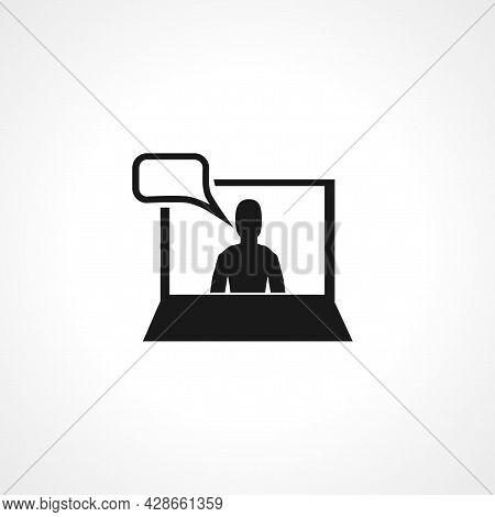 Online Training Icon. Online Training Simple Vector Icon. Online Training Isolated Icon.