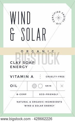 Minimal Label. Typographic Modern Vintage Label, Tag, Sticker For Natural Brand, Beauty Packing. Ret