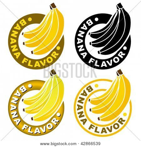Banana Flavor Seal / Mark