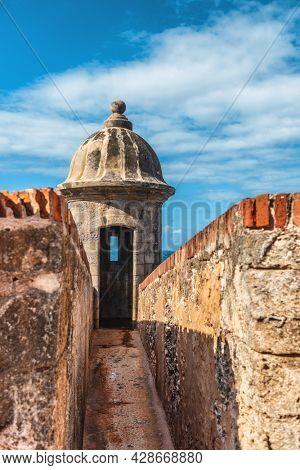 San Juan Puerto Rico travel fort Castillo San Felipe del Morro, citadel in Old town. Caribbean USA.