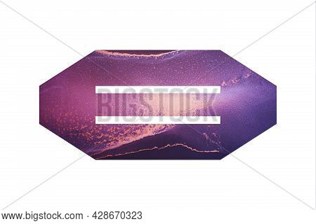 Decorative Numeral 8 With Abstract Hand-painted Alcohol Ink Texture. Galaxy Texture. Isolated On Whi