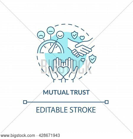 Mutual Trust In Mature Relationship Concept Icon. Support And Communication. Love Sharing. Friendshi