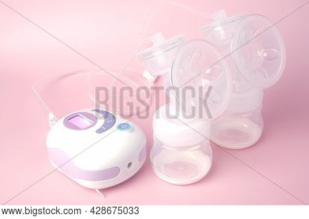 A Picture Of Portable Breast Pump Been Switch On Before Lactate. High Demand Breast Pump As Can Use