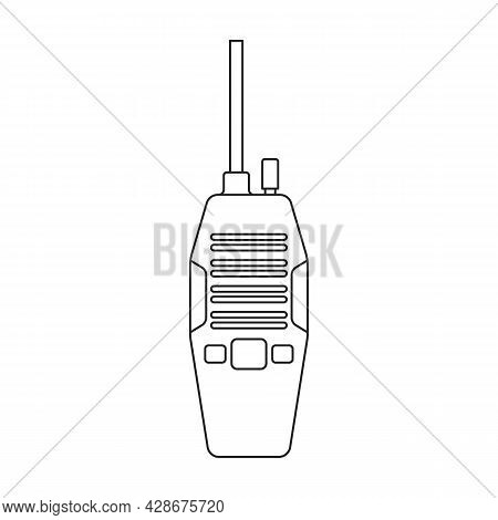 Walkie Talkie Vector Icon.outline Vector Icon Isolated On White Background Walkie Talkie.
