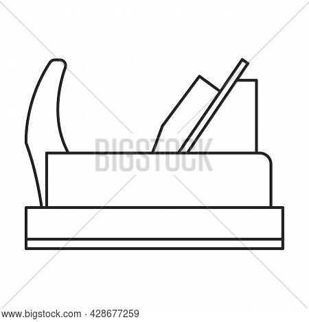 Jointer Craft Vector Icon.outline Vector Icon Isolated On White Background Jointer Craft.
