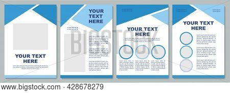 Geometric Advertising Brochure Template. Flyer, Booklet, Leaflet Print, Cover Design With Copy Space