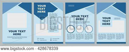 Geometric Minimal Brochure Template. Corporate Info. Flyer, Booklet, Leaflet Print, Cover Design Wit