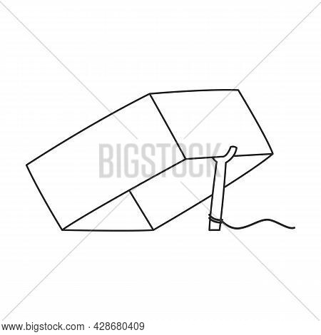 Mousetrap Vector Icon.outline Vector Icon Isolated On White Background Mousetrap.