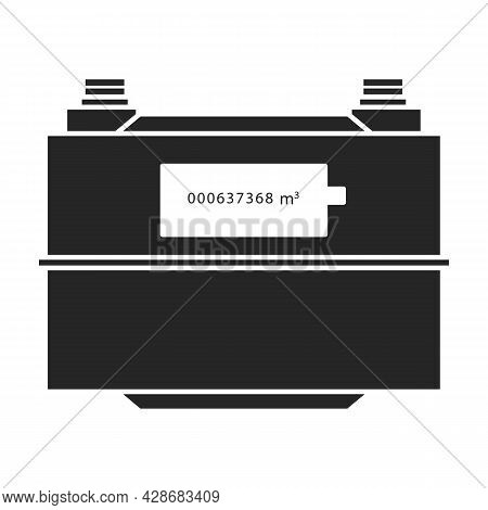 Electric Meter Vector Icon.black Vector Icon Isolated On White Background Electric Meter .
