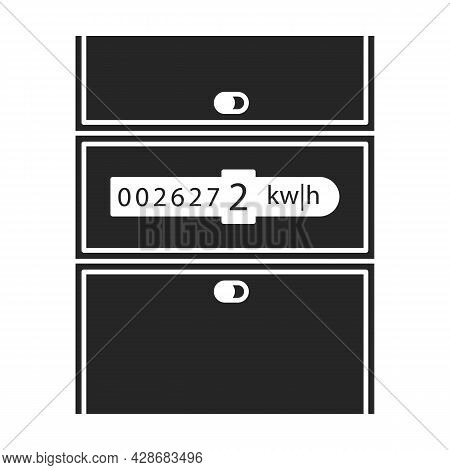 Gas Meter Vector Icon.black Vector Icon Isolated On White Background Gas Meter .