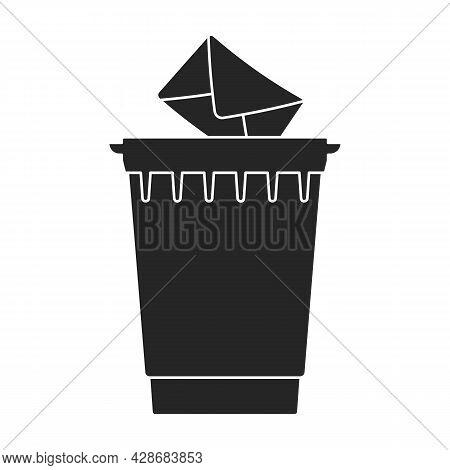 Wastebasket Vector Icon.black Vector Icon Isolated On White Background Wastebasket.