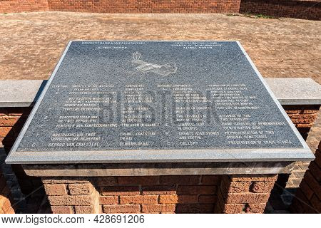 Aliwal North, South Africa - April 23, 2021: Information Plaque At The Boer War Consentration Camp M
