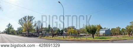 Aliwal North, South Africa - April 23, 2021: A Panoramic Street Scene, With The Entrance To The Aliw