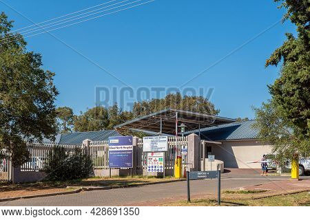 Aliwal North, South Africa - April 23, 2021: Entrance To The Aliwal North Hospital, In Aliwal North