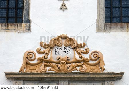 Detail From The Windows And Ornaments From Church Of Santo Antonio Do Alto Located In Faro, Portugal
