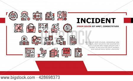 Incident Management Landing Web Page Header Banner Template Vector. It Service Manage And Virus Repo