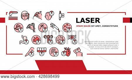 Laser Therapy Service Landing Web Page Header Banner Template Vector. Laser Removal Of Vascular Path