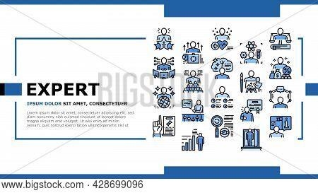 Expert Human Skills Landing Web Page Header Banner Template Vector. Universal And Business Expert, L