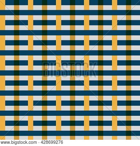 Blue And Yellow Line Template For Table Cloth Template.loincloth Vector And Illustration Soft Shade.