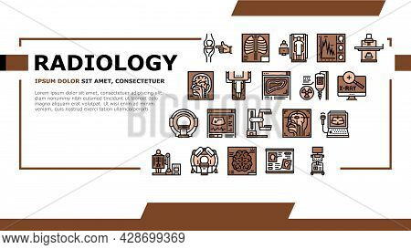 Radiology Equipment Landing Web Page Header Banner Template Vector. Mri And Ultrasound, Ct Scan And
