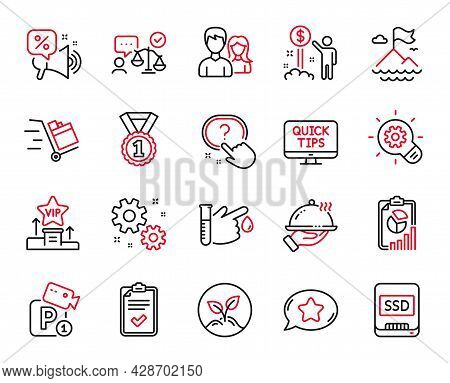 Vector Set Of Business Icons Related To Checklist, Best Rank And Report Icons. Income Money, Work An