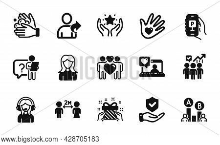 Vector Set Of Social Distancing, Search Employee And Business Statistics Icons Simple Set. Insurance