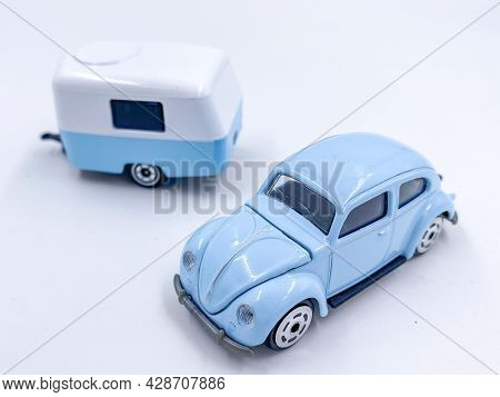 Bangkok Thailand - 29 May 2021: Majorette Vintage Die-cast Car Model Toy On White Background