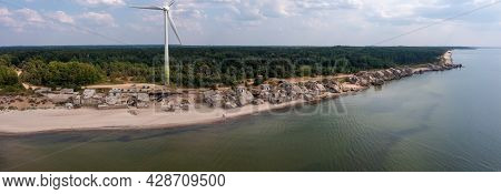 Ruins Of Bunkers On The Beach Of The Baltic Sea