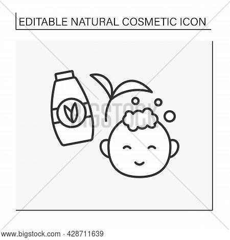 Care Line Icon. Facial Cream For Moisturizing Baby Skin. Delicate Cream With Organic Ingredients. Na