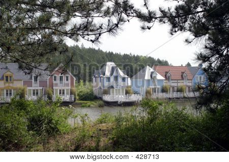 View Of Holiday Homes Across A Lake