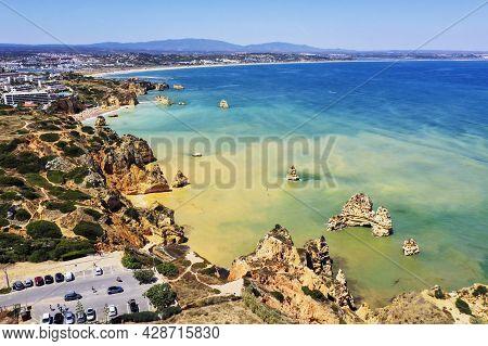 Amazing Cliffs And Beaches In Ponta Da Piedade, Lagos, Portugal