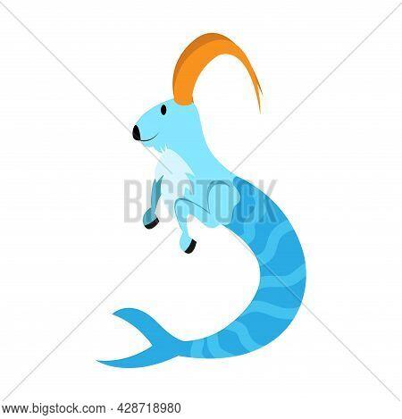 Isolated Capricorn Animal Character Zodiac Sign Vector