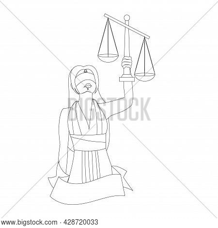Isolated Libra Female Character Zodiac Sign Vector