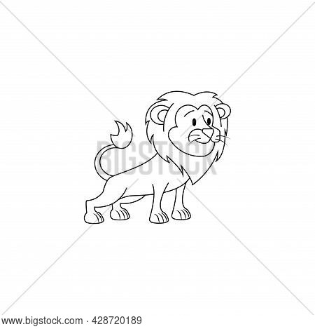 Isolated Leo Lion Animal Character Zodiac Sign Vector