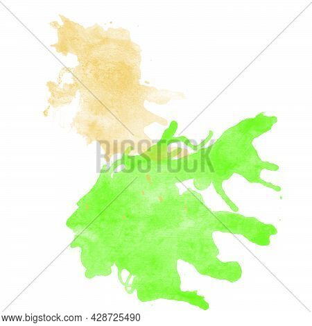 Abstract Watercolor Background, Watercolor Spots, Shapeless Spot For The Background. Isolated On A W