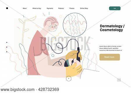 Dermatology, Cosmetology - Medical Insurance Web Page Template