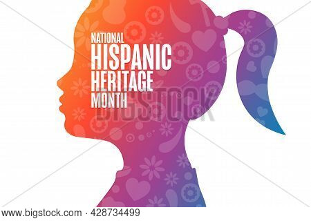 National Hispanic Heritage Month. Holiday Concept. Template For Background, Banner, Card, Poster Wit