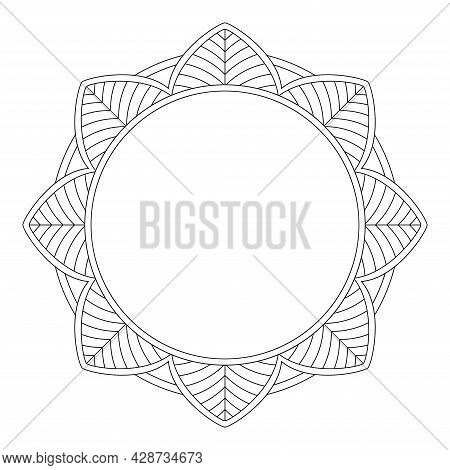 Round Decorative Frame With Space For Text, Vector Illustration