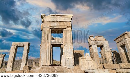 Persepolis, Iran - May 2019: Ruins Of Persepolis, The Capital Of The Achaemenid Empire Later Destroy